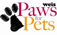 Weis Markets Paws for Pets Program